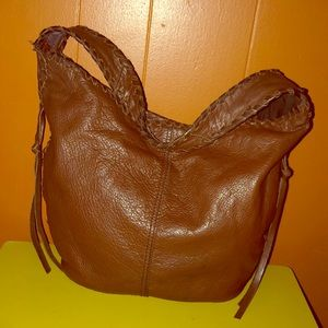 Lucky Brand Brown Leather Hobo Bag